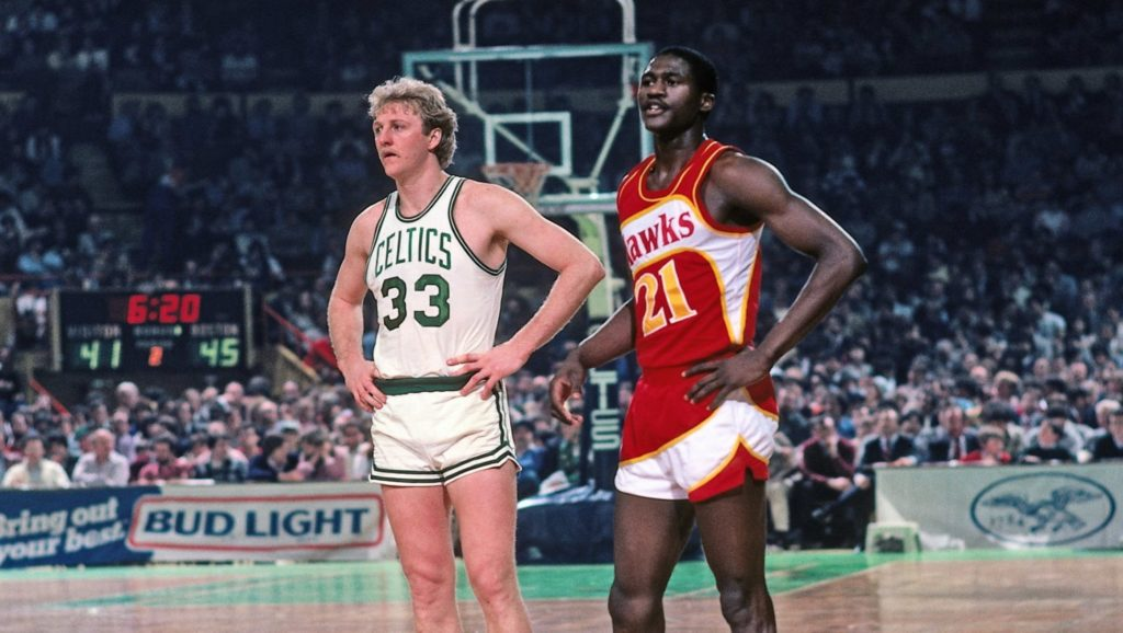 Larry Bird y Dominique Wilkins