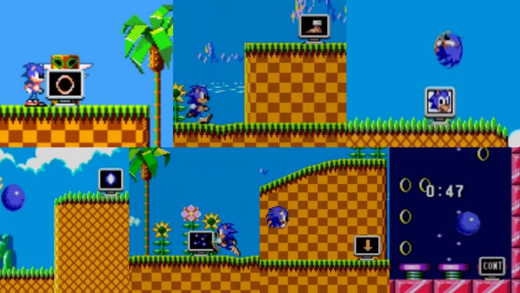 Sonic The Hedgehog: monitores de vídeo