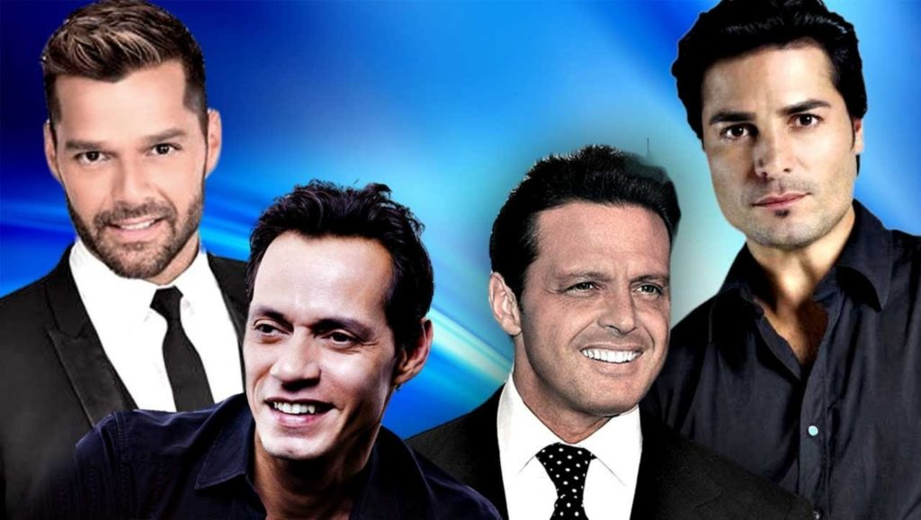 Ricky Martin, Marc Anthony, Luis Miguel y Chayanne