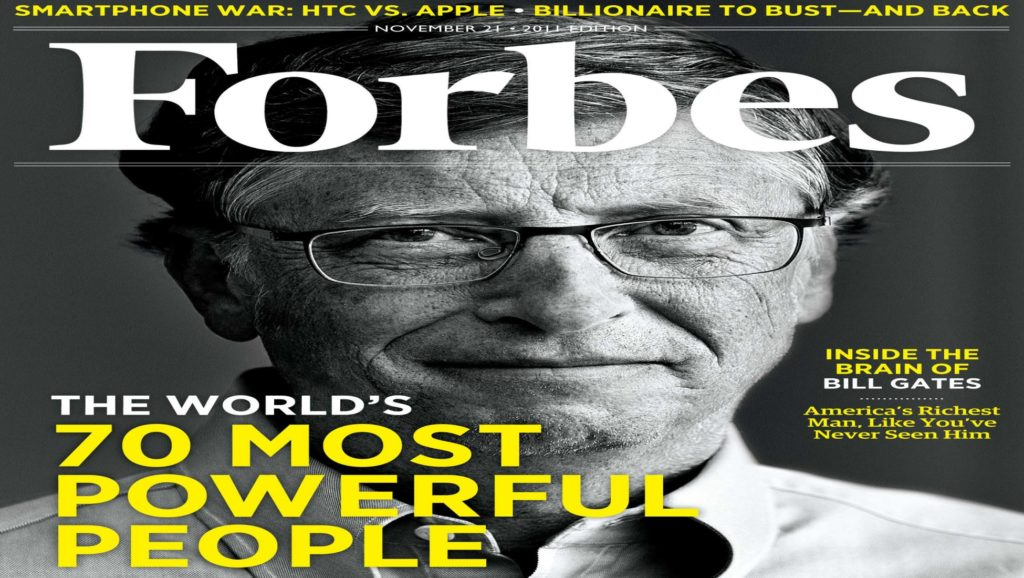 Bill Gates en la revista Forbes