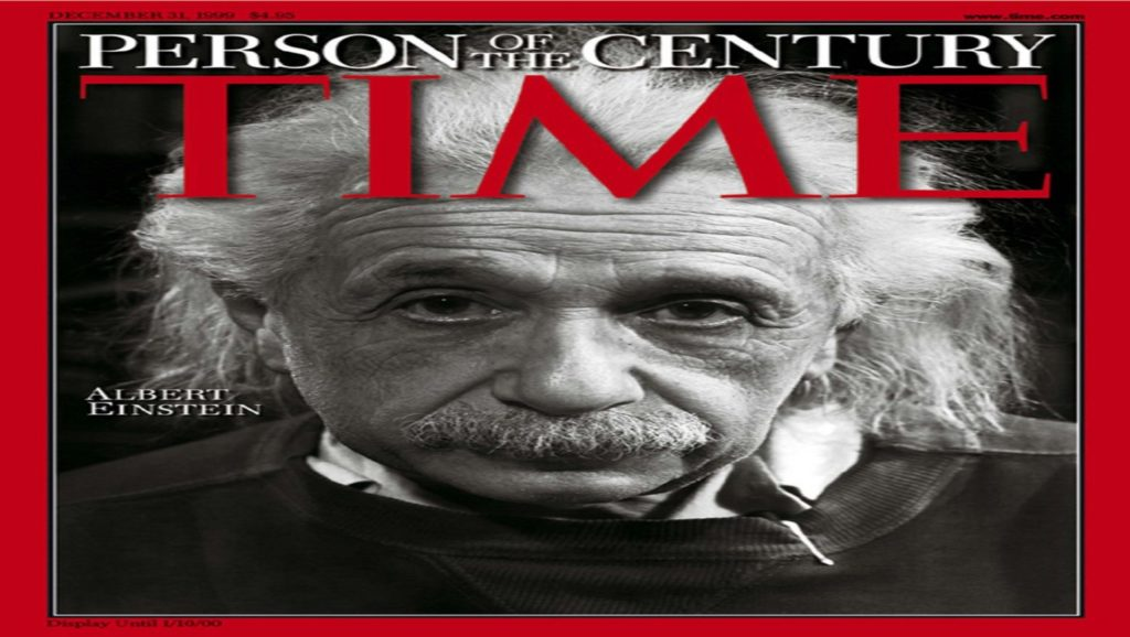 Portada de revista Time con Albert Einstein