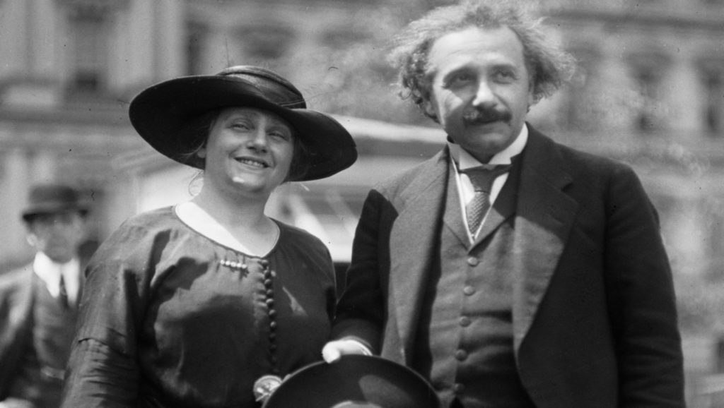 Elsa Lowenthal y Albert Einstein