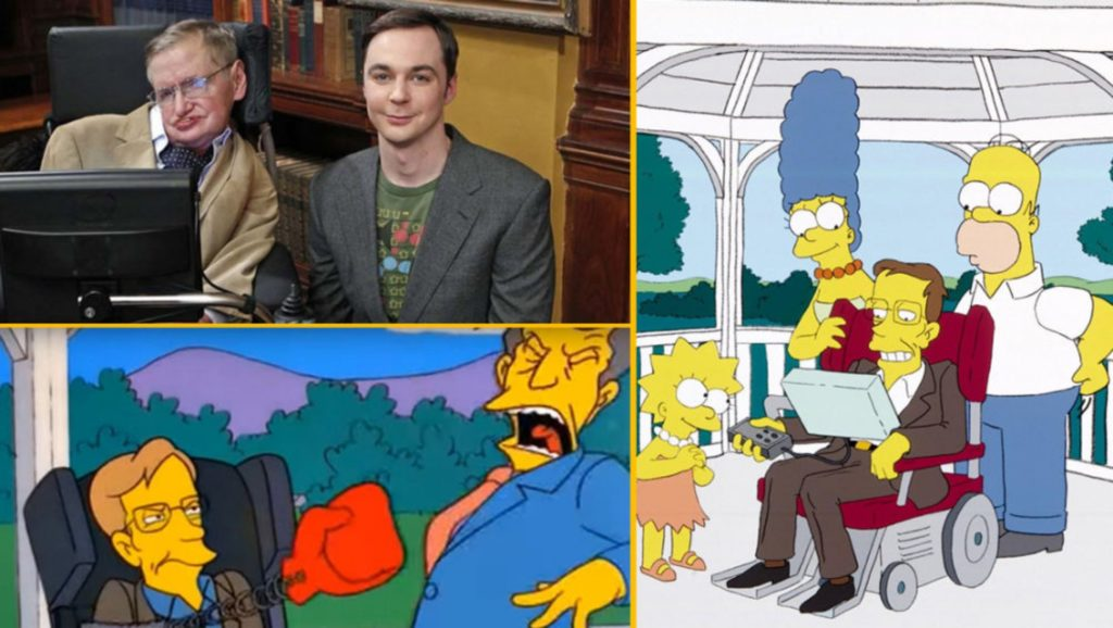 "Stephen Hawking en ""The Big Bang Theory"" y en ""Los Simpsons"""