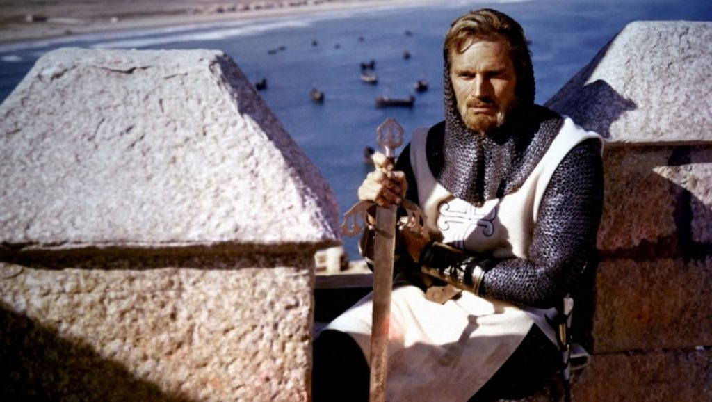 "Charlton Heston en ""El cid"""