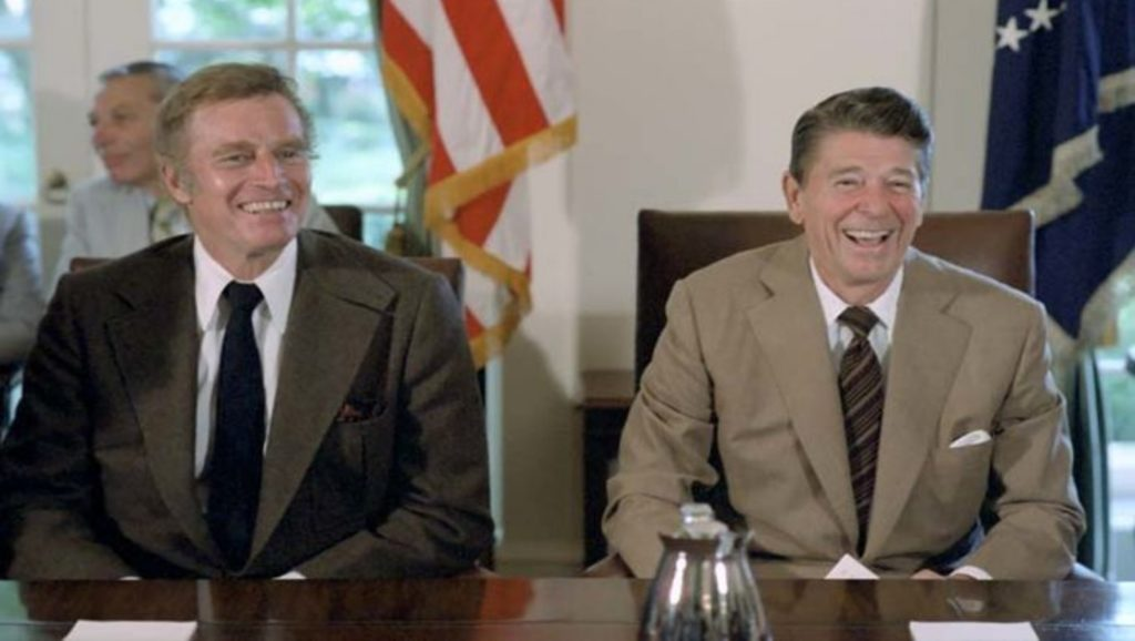 Charlton Heston y Ronald Reagan