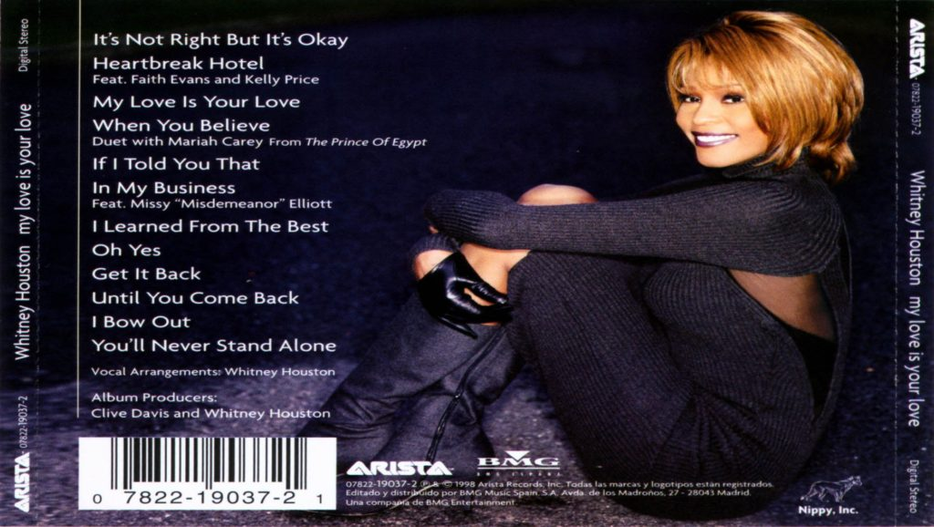 "Álbum ""My Love Is Your Love"" de Whitney Houston"