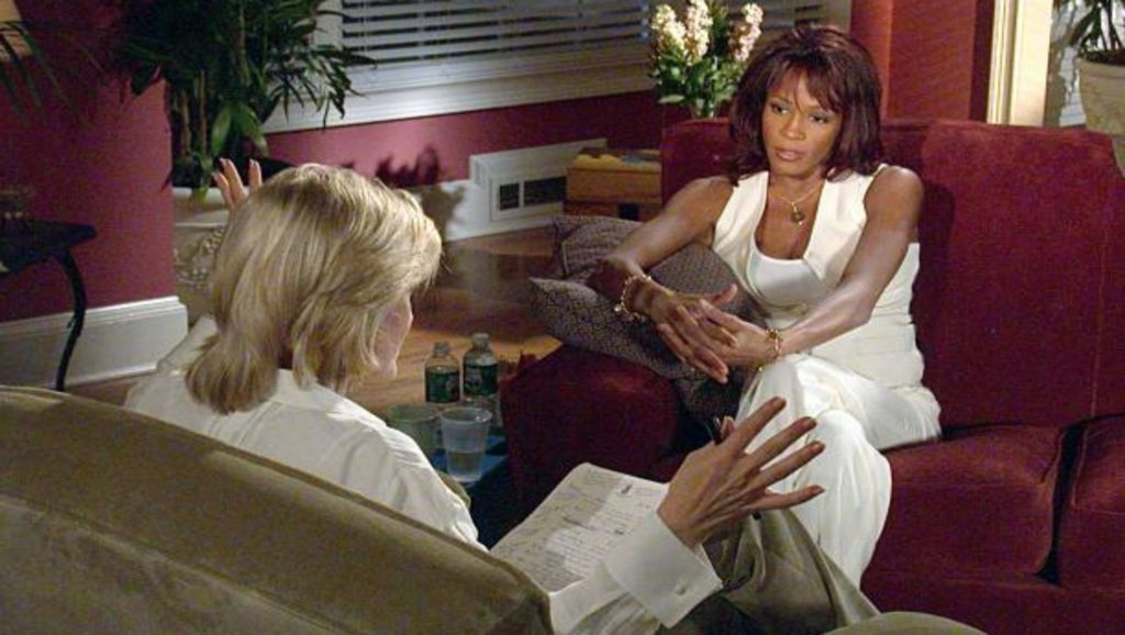 Diane Sawyer y Whitney Houston