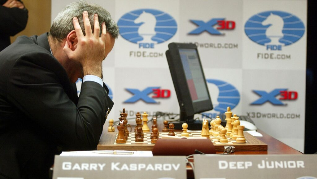 Garry Kasparov contra Deep Junior en 2003