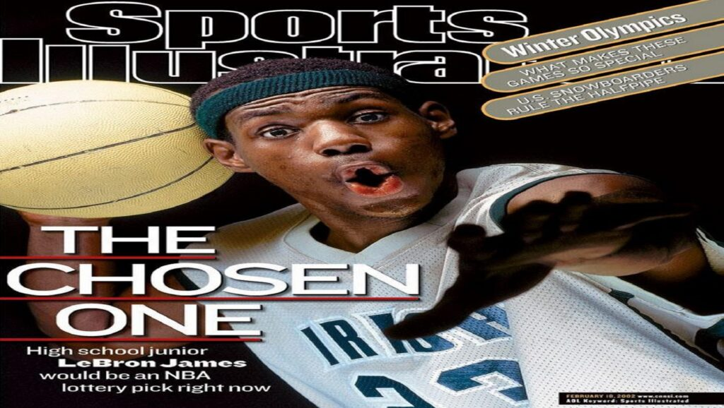 Lebron James con 17 años en la portada de Sports Illustrated