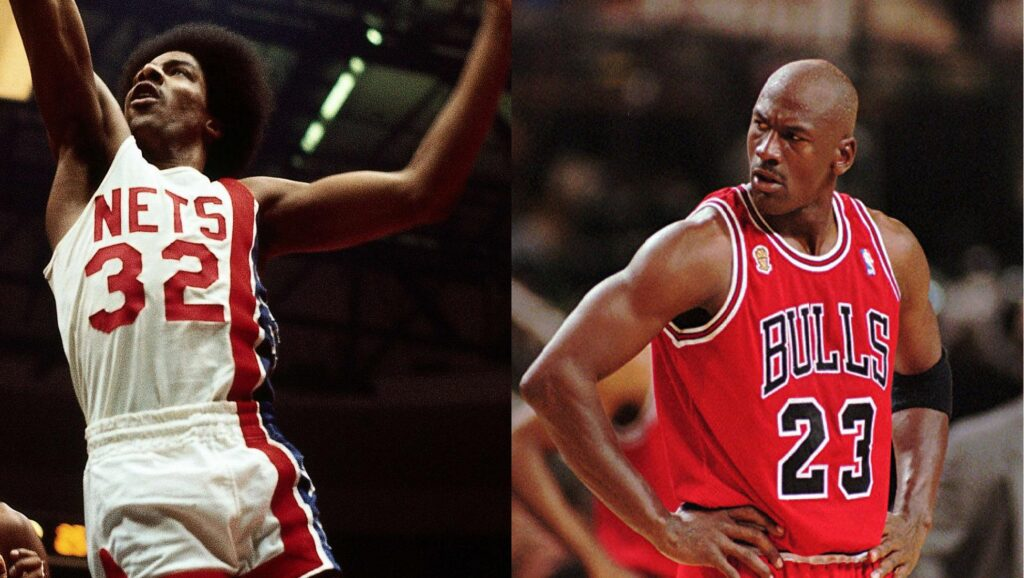 Julius Erving y Michael Jordan