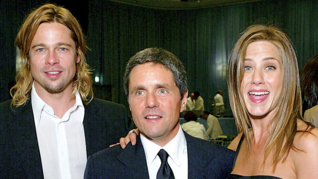 Brad Pitt, Brad Grey y Jennifer Aniston