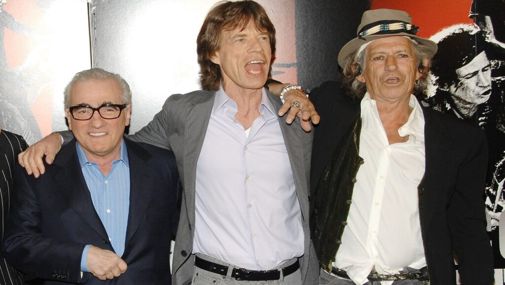 Martin Scorsese, Mick Jagger y Keith Richards