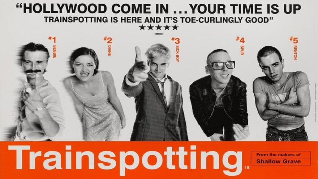 "Póster de ""Trainspotting"""