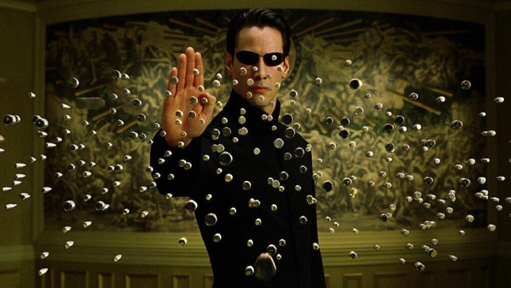 "Keanu Reeves en ""Matrix"""