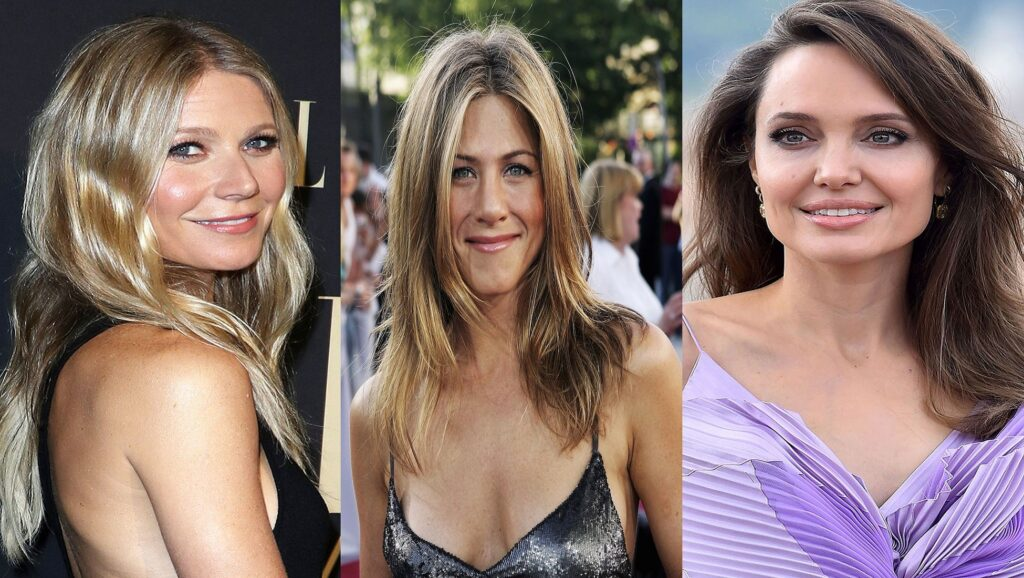 Gwyneth Paltrow, Jennifer Aniston y Angelina Jolie