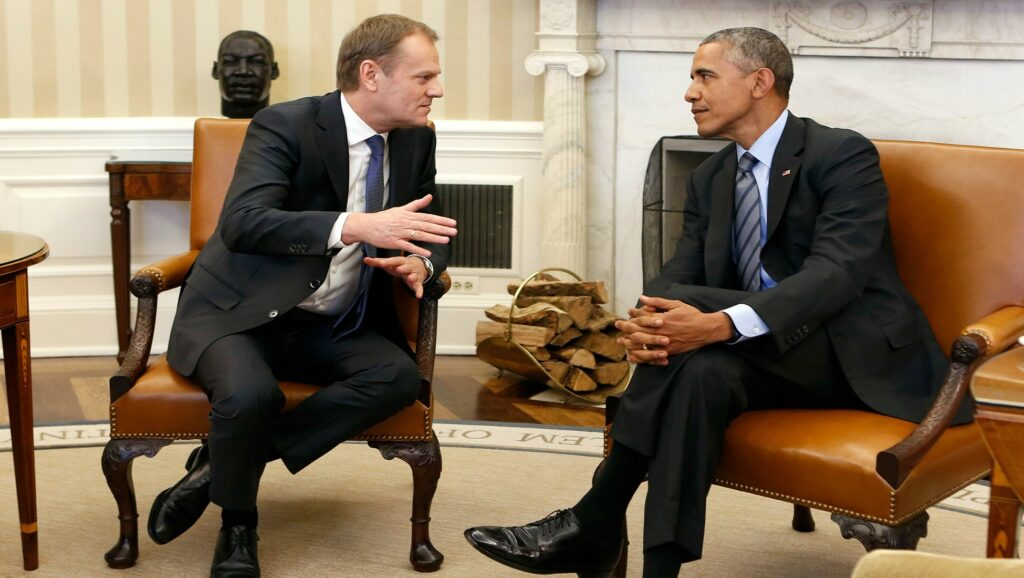 Donald Tusk y Barack Obama